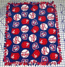 "Philadelphia Phillies Baby Blanket Fleece Pet Lap Red Blue 30""x 24"" MLB ... - $39.95"