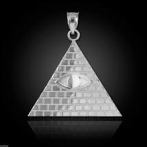 Sterling Silver Illuminati Pyramid Pendant - $19.99