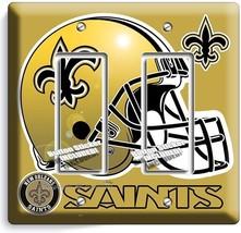 New Orl EAN S Saints Football Team Double Gfi Light Switch Wall Plate Boys Bedroom - $10.79