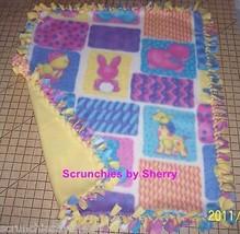 Animals Ducks Fleece Blanket Patchwork Hand Tied  Baby Pet Lap Shower Gift - $39.95