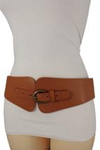 Cool Women Hip High Waist Brown Faux Leather Wide Fashion Belt Floral De... - $14.46