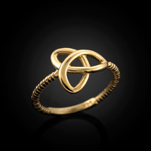 14k Gold Celtic Trinity Ladies Triquetra Ring - £107.60 GBP