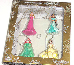 Disney Princess Ariel Belle Jasmine Aurora Beauty Ornament Set Theme Parks  - $69.95