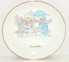Precious Moments Collectors Plate December Enesco 1983 Vintage  - $14.97