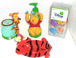 Disney Accessories Pooh Tigger Soap Dish Toothbrush Lotion Bottle Shower Hooks - $119.95