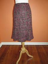 Talbots Size 12 Multi Color Textured Tweed Flar... - $34.53