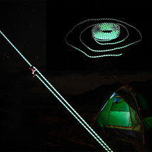 50FT 2.5MM Camping Tent Reflective Rope Windpro... - $8.58