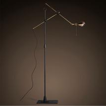 O. C. White Brass & Iron Swing Arm Floor Lamp Task Reading Light Lighting Fixtur - $381.99