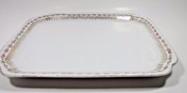 ZS & G Bavaria Porcelain Vanity Perfume Dresser Tray Roses Gold Filigree... - $32.71