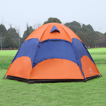Outdoor 5-8 Persons Large Tent Double Layers Wa... - $97.40