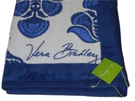 Vera Bradley Beach Towel Cobalt Tile Blue 12329-375 - $59.95