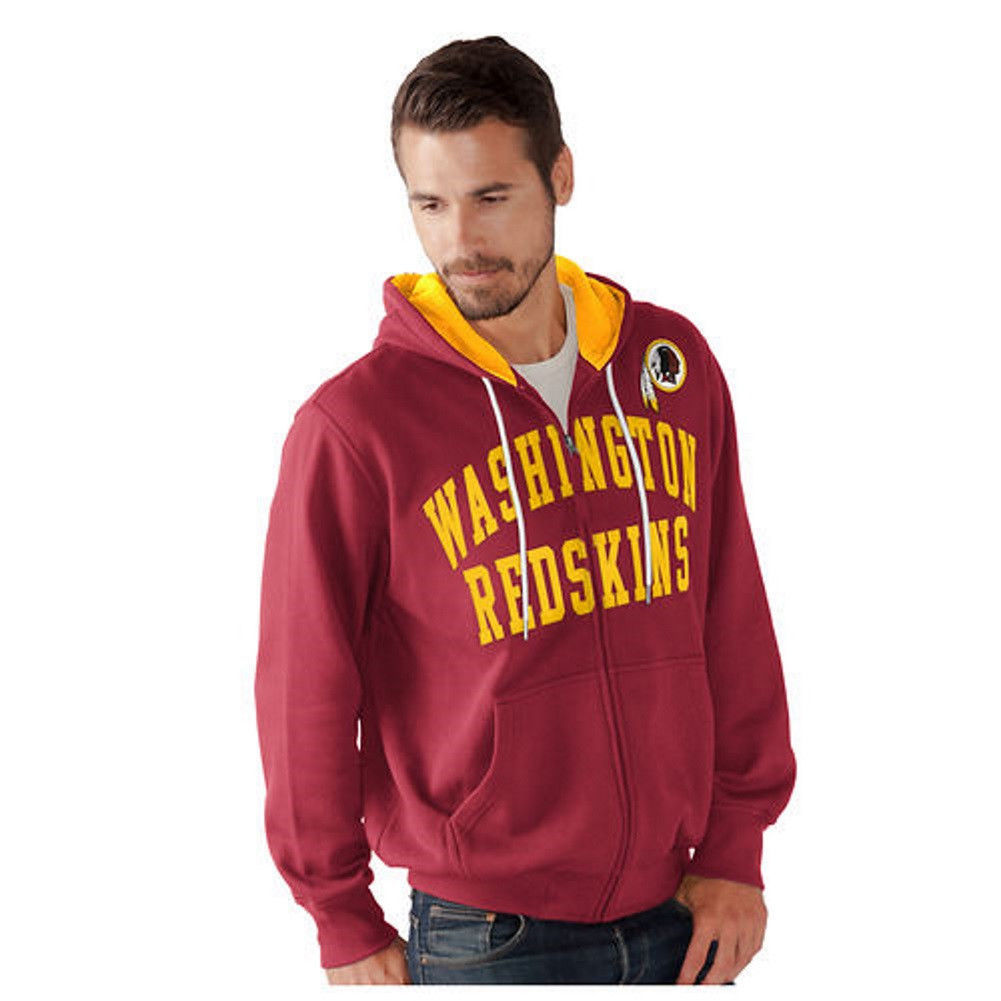 Washington Redskins Hoodie Men's NFL Pass Attempt Full Zip Sweatshirt Hooded NEW