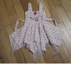 New Girl white and Pink Dotted Party Dress in 18-24 Months 2-3 3-4 Years - $8.84