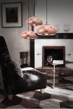 Modern Mushroom Pendant Golden Silver Copper Finish Ceiling Lamp Plated Light - $113.85+