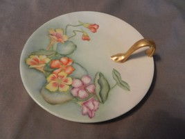 Vintage China Dessert Plate with Handle, Painte... - $49.49