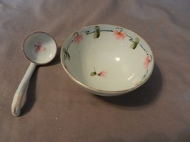 Vintage Japanese Rice or Soup Bowl with Spoon P... - $39.59