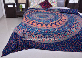 Indian Elephant Mandala Bedding Set Throw Hippie Bohemian Bedspreads Tap... - $23.65