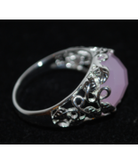 """Pink Faceted Stone Set In Delicate Leaf Filigree by Avon (NIB) """"Into the... - $4.49"""