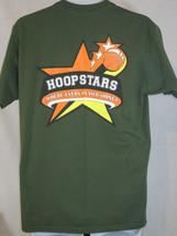 hoopstars basketball sports L large green T shirt  - $19.78