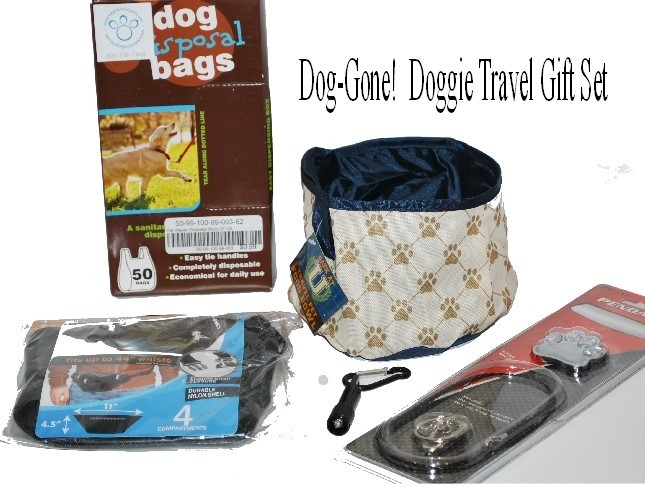 Dog-Gone Handy!  Nylon Fanny Pack Combined with Other Dog Walking Goodies