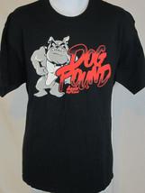 dog pound bulldog art black XL T shirt   - $19.78