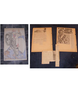 Evel Knievel Illustration Paper Place Mat 1974 & Newspaper Clippings Lot - $22.99