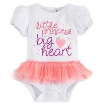 Disney Store Little Princess Big Heart Cuddly Bodysuit with Tutu - Sz 12... - $24.99