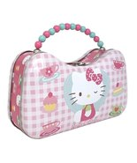 Hello Kitty Metal Handbag Purse Pink Plaid Tin Box Co. 8.5 x 5 x 2.75 - $14.99