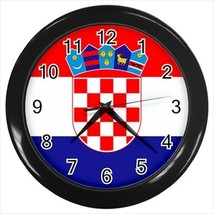 Croatia Flag Wall Clock - $18.53