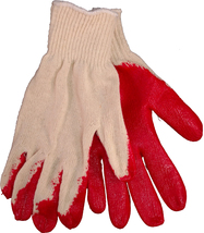 Red Latex Palm Coated, Knit Glove, Sold by the Dozen - $8.35+