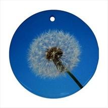 Dandelion Round Ornament w/ Ribbon Hanger - $7.40
