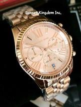 Authentic MICHAEL KORS MK5569 Lexington Chronograph Rose Dial Ladies Watch - $138.10