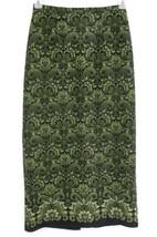 NOTATIONS Women's Long Skirt Black Green Floral... - $7.92