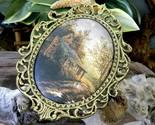 Vintage ornate oval gold frame padded silk cabin cottage landscape thumb155 crop