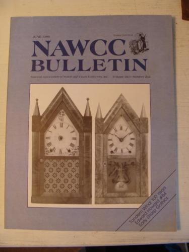 NAWCC Bulletin #242 June 1986 Boston Tandem Wind Brewster Sharp Fusee Chain V 28