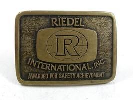1970's REIDEL International Inc. Brass Belt Buckle By BTS Made In USA 21817 - $19.99