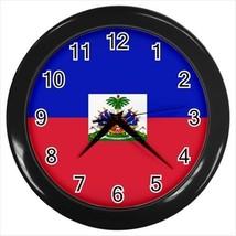 Haiti Flag Wall Clock - $18.53