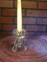 Vintage Pressed Glass Reversible Taper/Votive Candle Holder - $5.85