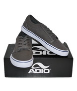 """Men's Canvas Skate Shoe by Adio  """"Melbourne"""" Charcoal/Navy Size 8 - $19.99"""