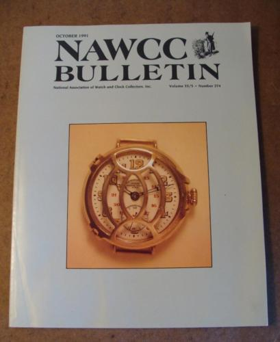 NAWCC Bulletin #274 Oct 1991 Hamilton cordless electric New Haven Watch  V 33