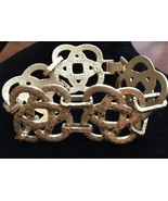 Lia Sophia Knotted Up Brushed Gold Tone Bracelet Celtic Knot 7.5 Inches ... - $24.00