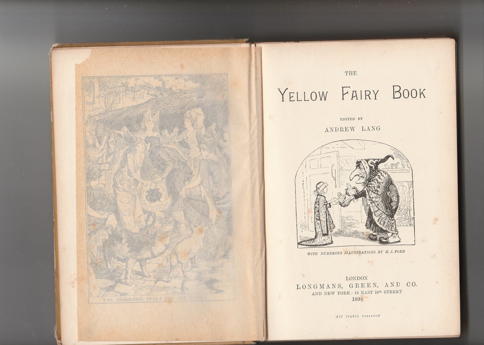 The Yellow Fairy Book by Andrew Lang 1894 1st illustrated