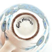 Ceramic Hand Painted Peacock Design Espresso Cup Mug Handmade Guatemala image 8