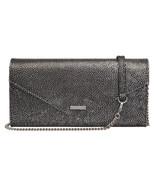 NEW LODIS WOMEN'S LEATHER SOPHIA NINA CHAIN CROSSBODY SHOULDER BAG SILVE... - $89.05