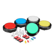 100MM 10CM Red Blue White Yellow Green LED Push Button for Arcade Game C... - $15.30