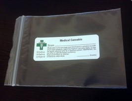 250 3x4 mmj Bags (w/ LABEL => Green Cross) *All State Compliant* Marijua... - $27.67