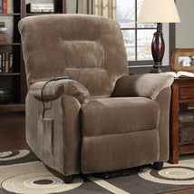 Power Lift Recliner Home Living Room Bedroom Brown Upholstery Décor Powe... - $595.73