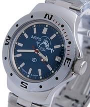 Vostok Amphibian Military Russian Diver Watch Scuba Dude Blue 2416 / 060059 - $72.40