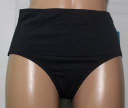 NEW Anne Cole 16MB321 Black High Waist Swimwear Hipster Bikini Bottom 22W - $14.80
