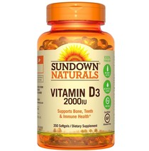 Sundown Naturals Vitamin D3 2000 IU Softgels, 3... - $25.23